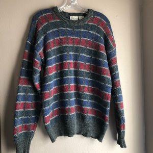 michael jordan 100% pure wool sweater size L
